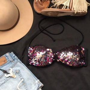 Victoria's Secret sequin bikini top size medium